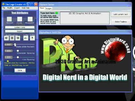 Tutorial The Logo Creator | digitalnerd logo tutorial using tlc the logo creator youtube