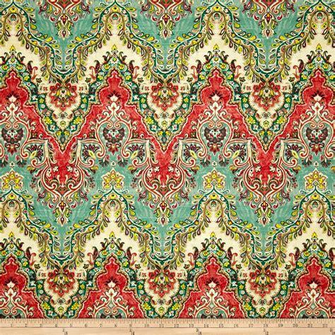 Ivory Upholstery Fabric Waverly Palace Sari Jewel Discount Designer Fabric