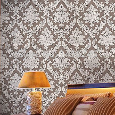 red damask wallpaper home decor aliexpress com buy 10m roll european luxurious off white red grey green damask vinyl wallpaper