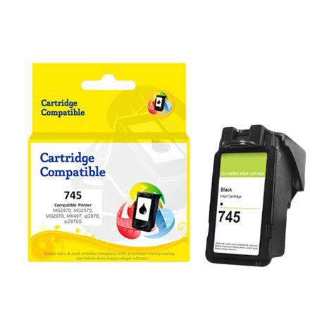 Canon Pg745s Black Ink jual canon pg 745 recycle ink cartridge black harga kualitas terjamin blibli