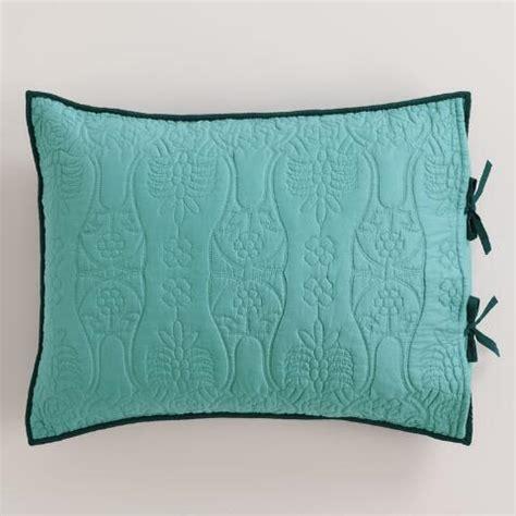 ink blue and aqua pillow shams set of 2 world market