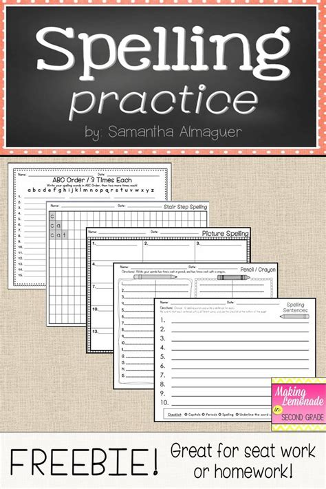 Spelling Homework Worksheets by 25 Best Ideas About Spelling Homework On