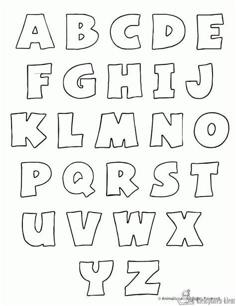 printable fonts for posters kleurplaten letters kleurplaten kleurplaat nl