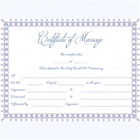 marriage certificate templates 500 printable designs