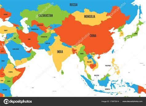 simple asia map keshmirime