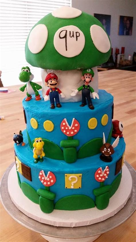 super mario bros birthday cake baking  mom