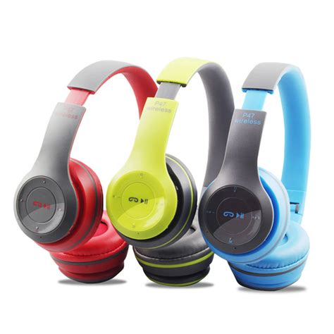 Headset Dj Bluetooth P47 wireless headset bluetooth 4 1 headphones with mic stereo earphones with fm radio support micro