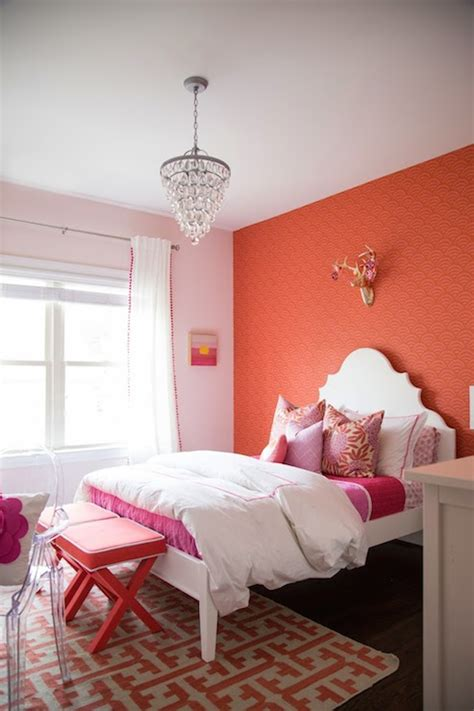 coral bedroom color schemes coral paint colors contemporary girl s room benjamin