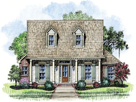 Acadian House Plans With Porches Acadian Cottage House Cajun House Plans