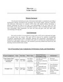 Team Charter Template by Team Charter Template Cyberuse