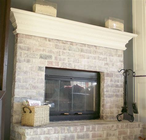 How To Wash Brick Fireplace whitewashed brick fireplace for the home