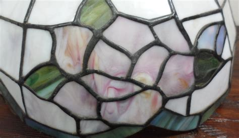 Stained Glass L Shades by Vintage Style Stained Glass Shabby Roses Cottage Chic L Light Shade Ebay