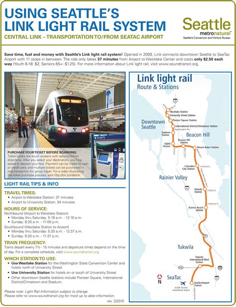 seattle light rail schedule seattle light rail map