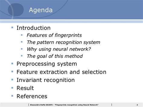 pattern recognition using neural networks fingerprints recognition using neural networks