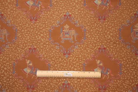 elephant upholstery fabric elephant tapestry upholstery fabric in cognac 14 95 per yard
