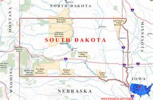 South Dakota State Map by South Dakota Maps