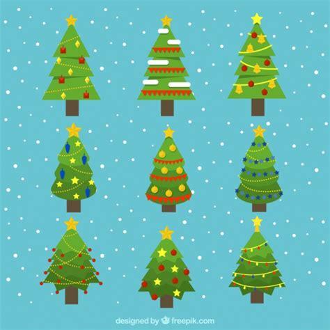 decorative geometric design decorative christmas trees with geometric designs vector
