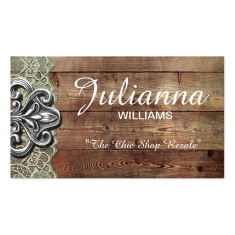 Free Shabby Chic Business Card Templates by Rustic Lace Shabby Chic Business Cards Zazzle