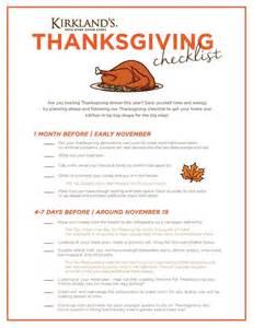 thanksgiving dinner check list thanksgiving checklist my kirklands blog