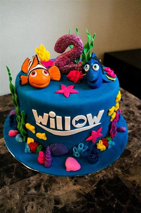 nemo cake template 40 finding dory birthday ideas pretty my