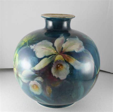 Royal Bonn Germany Vase by C1890s Antique Handpainted Royal Bonn Germany Pottery Vase