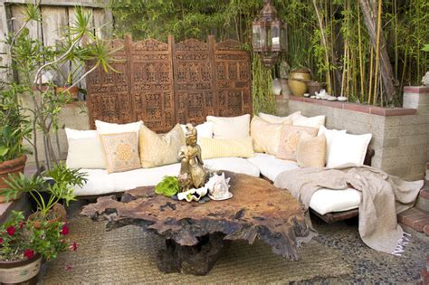 Outdoor living bali india style retreat eclectic patio orange county by eden clark of