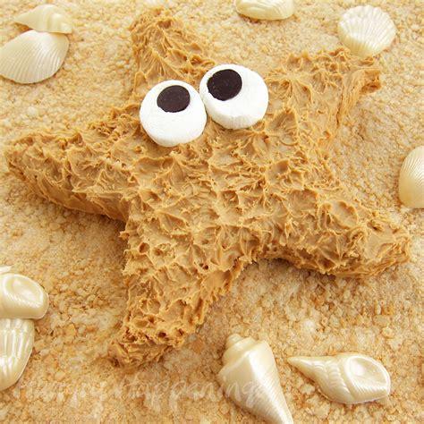 Summer Rice Shower peanut butter fudge starfish themed desserts