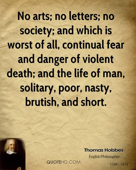 Letters And Society hobbes quotes quotesgram