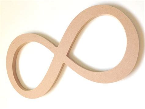 infinity woodworking unfinished wooden decor infinity sign symbol by