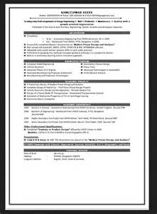 mba finance resume sle for freshers resume format for mba finance fresher resumes design