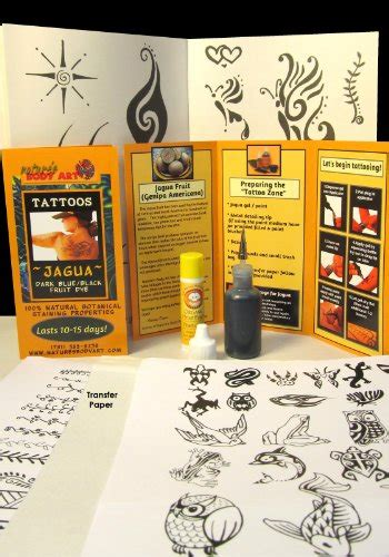 jagua tattoo kit amazon 20ml jagua tattoo kit with reusable applicator bottle