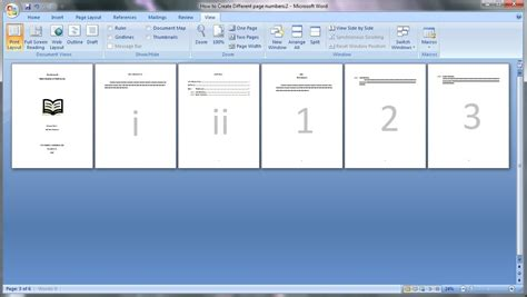 tutorial video numbers microsoft word tutorial how to create different page