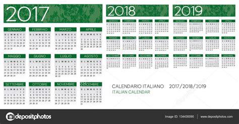 Calendario 2019 Italiano Italiano Calendario 2017 2018 2019 Vettoriale Vettoriali