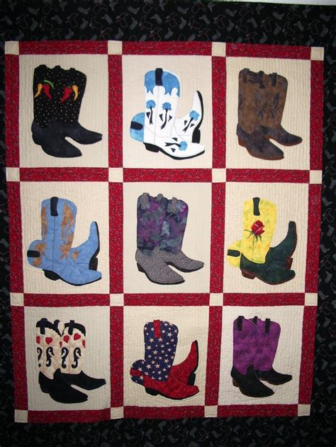 Cowboy Boot Quilt Pattern by Cowboy Boot Quilt Pattern Woodworking Projects Plans