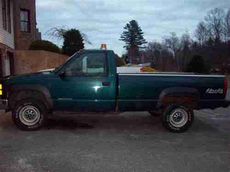 how to learn about cars 1998 gmc 2500 club coupe parking system sell used 1998 98 gmc sierra 4x4 2500 6 6 turbo diesel reg cab low miles with fisher plow in