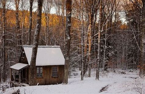Snowy Cabin In The Woods by Cabin In The Snowy Woods The