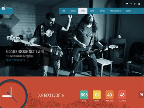 bootstrap themes free music evento free music event bootstrap template