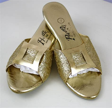 gold house slippers gold house slippers 28 images vintage metallic gold slippers from by