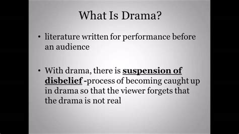 theme definition in drama definition of drama youtube