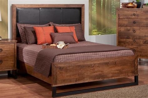 leather headboard and footboard cumberland queen bed with fabric leather headboard low