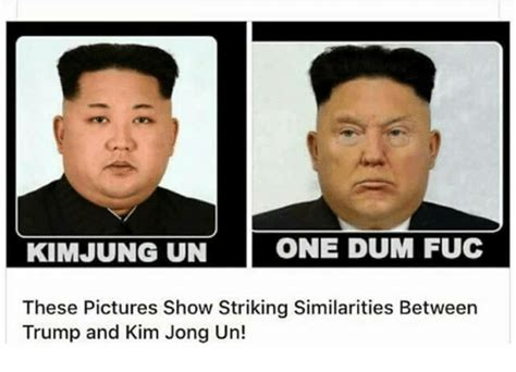 Kim And Trump Memes - kimjung un one dum fuc these pictures show striking