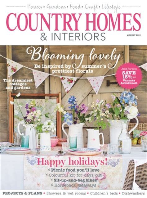 country homes and interiors subscription country homes interiors magazine august 2015