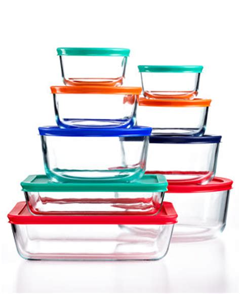 Pyrex 18 Pc. Simply Store Set with Colored Lids, Created