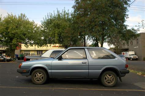 old subaru hatchback old parked cars 1985 subaru std hatchback