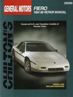 service manual car repair manual download 1984 pontiac fiero instrument cluster service