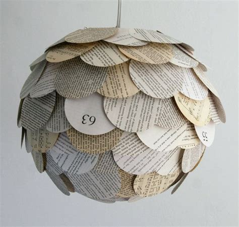Paper Lantern Pendant Light The Manhasset Mixed Book Page Pendant Light Hanging Paper Artichoke
