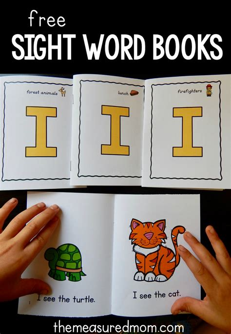 seeing books four free books to teach the sight word quot i quot the measured
