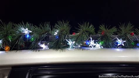 decorate your car for christmas with garland and lights