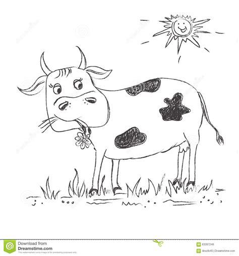 clipart mucca schizzo mucca clipart illustrazione vettoriale