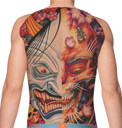 henna tattoo full back temporary back skull and goblin